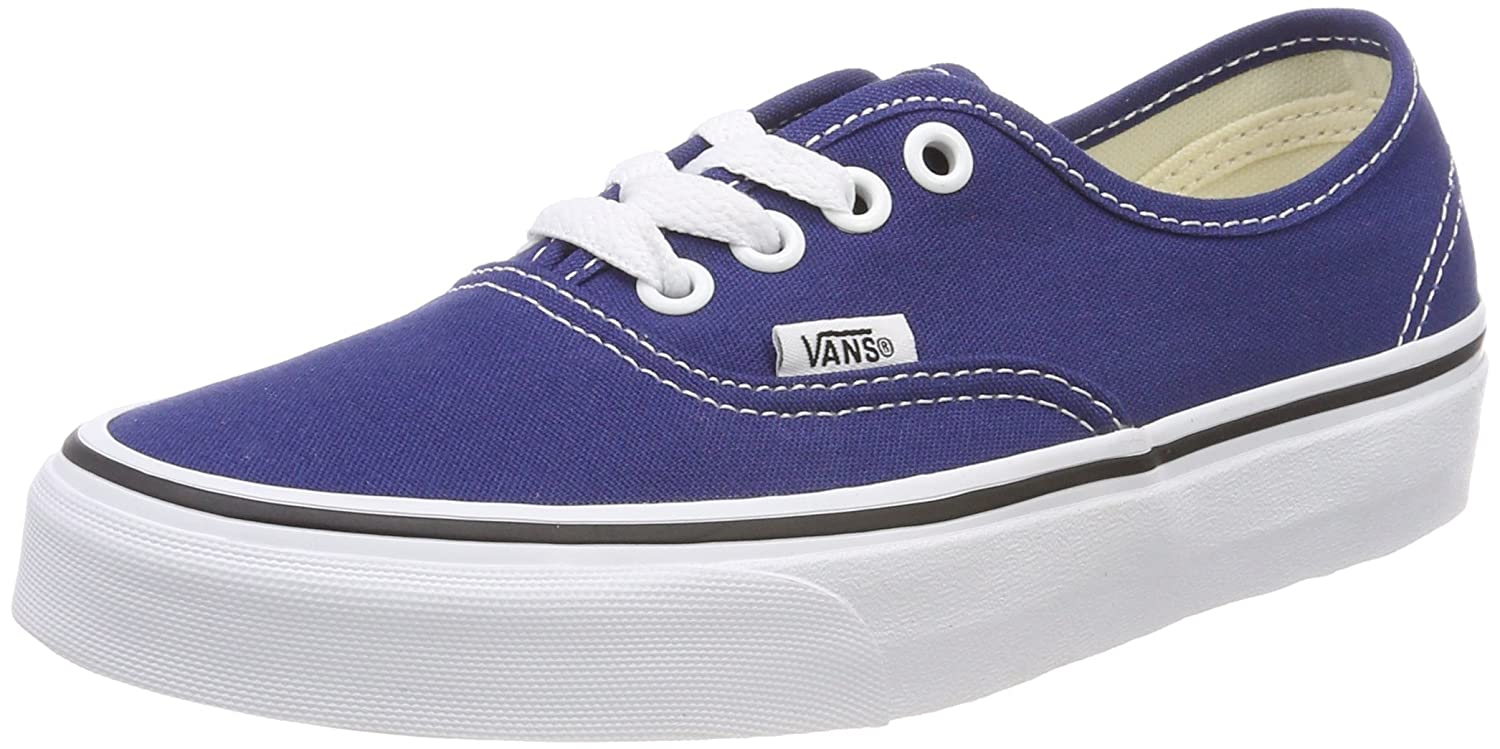 [バンズ] スニーカー Women's AUTHENTIC (Pig Suede) VN0A38EMU5O レディース B074HF5JKK Estate Blue/True White 12.5 Women/11 Men M US 12.5 Women/11 Men M US|Estate Blue/True White