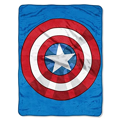 amazon com osd 1 piece 40x50 blue red white avengers throw blanket