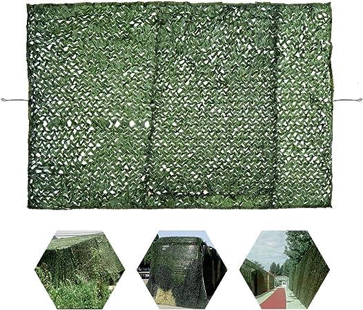 Red De Jardín Verde, Malla De Sombra Invernadero 2m × 3m Ejército Malla De Camuflaje Malla