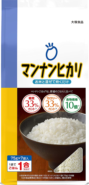 mannanhikari Diet Dry Shirataki Rice, 75 gram (7 Pieces)