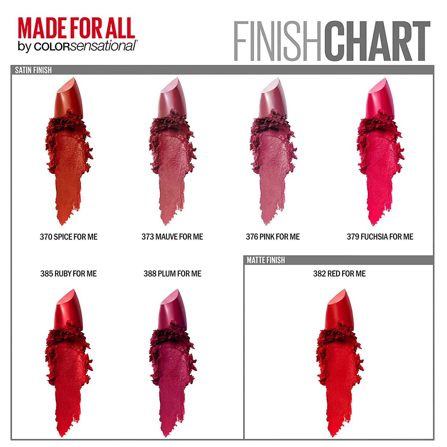 Amazoncom Maybelline New York Color Sensational Made For All