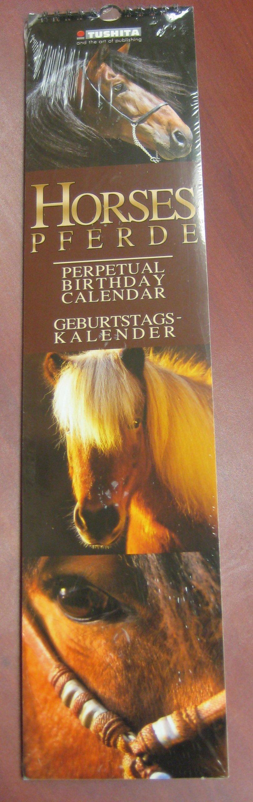 Horses Perpetual Birthday Calendar