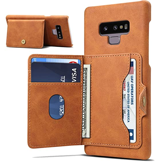 competitive price 97900 49128 Crosspace Galaxy Note 9 Case, Galaxy Note 9 Wallet Case PU Leather Wallet  Hard PC Cover with Cards Holder Slots for Samsung Galaxy Note 9 - Brown