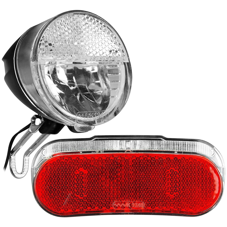 TW24 Fahrrad Dynamo Beleuchtungsset R/ückleuchte Frontleuchte StVZO-Zulassung Fahrradbeleuchtung Fahrradlicht Set Fahrradleuchte