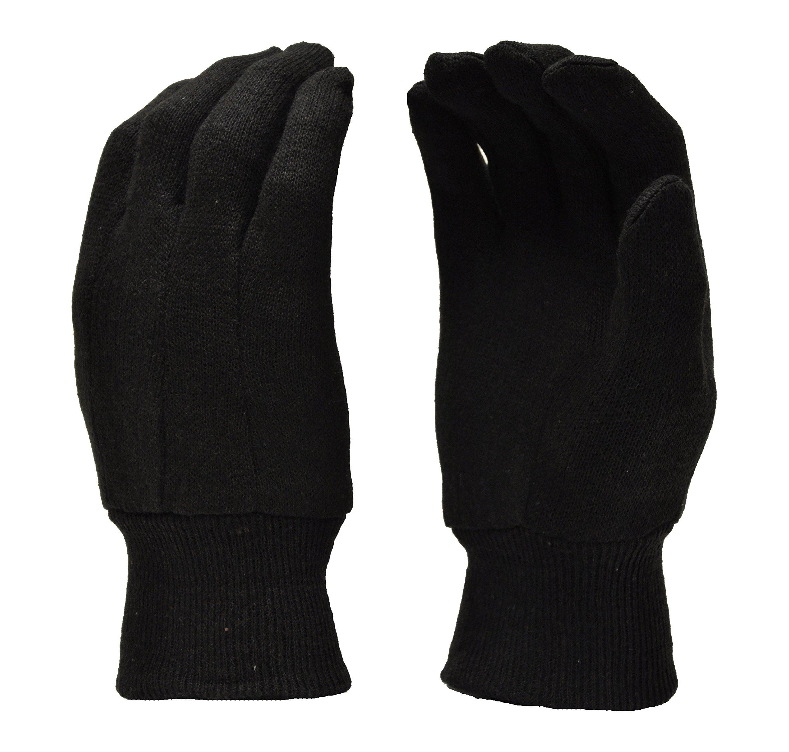 G & F 4408-25 Heavy Weight 9oz Cotton Brown Jersey Work Gloves, Large, 25-Dozen