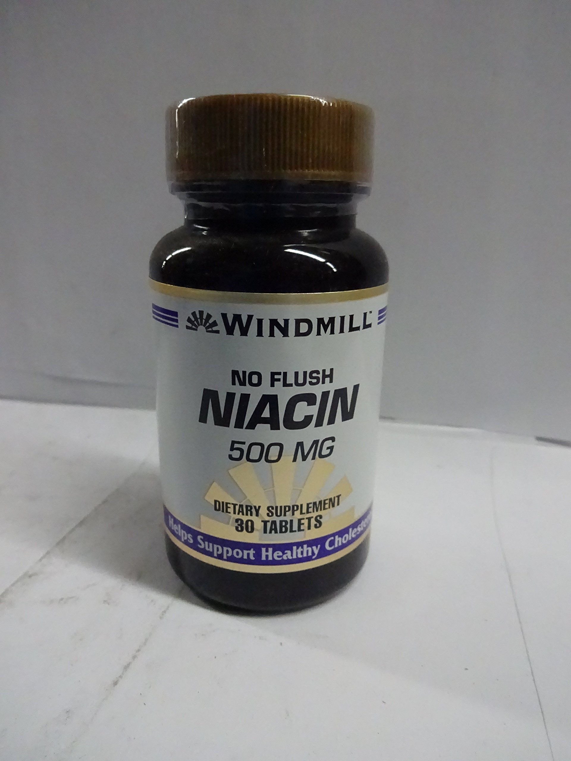 Windmill No Flush Niacin 500 Mg 30 Tablets (Pack of 5)