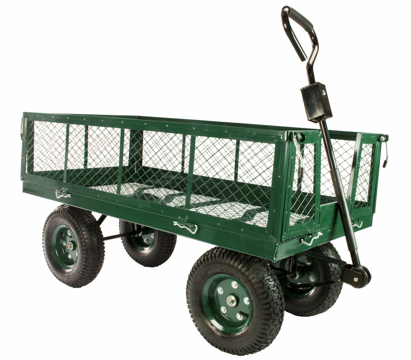 Erie Tools 1000 lbs Flatbed Utility Garden Cart 48''x 24'' with Removable Sides by Erie Tools