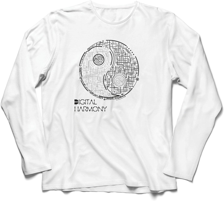 Camiseta de Manga Larga para Hombre La armonía Digital ...