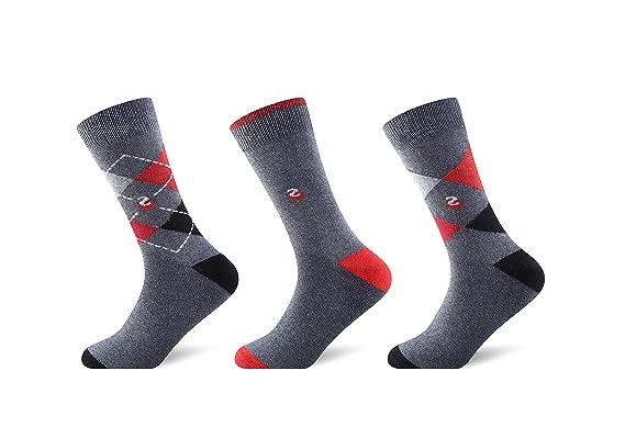 Calcetines Hombre De Algodón 6 / Paquete De 12 Diseñadores estampado Cómodo transpirable Calcetines (6