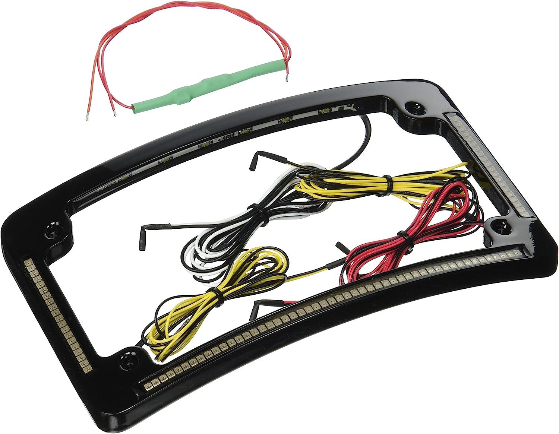 "License Plate Frame w// 10 Red LED 9/"" Flush Mount Running Turn Signal Tail Light"