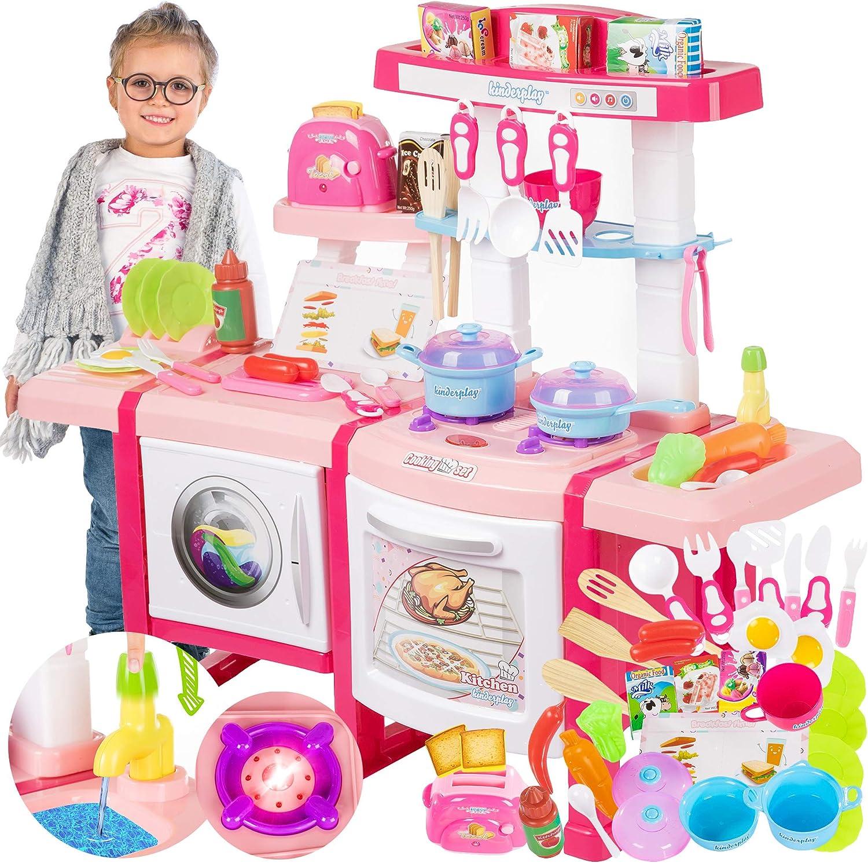 Kinderplay Cocina Juguete, Cocinita con Características de Sonidos, Luces y Agua Incluye 36 Accesorios, para Ninos con Toster KP6030: Amazon.es: Juguetes y juegos