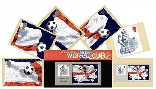 Caja de 2002 de balón de fútbol Mundial de Fútbol de Royal Mail ...