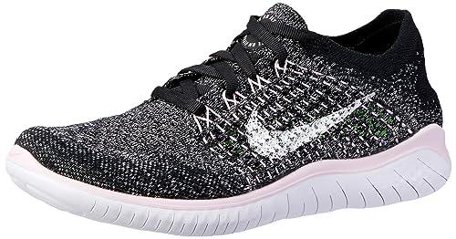 hot sale online 60df3 a93eb Nike Free RN Flyknit 2018 Women's Running Shoe Black/White ...
