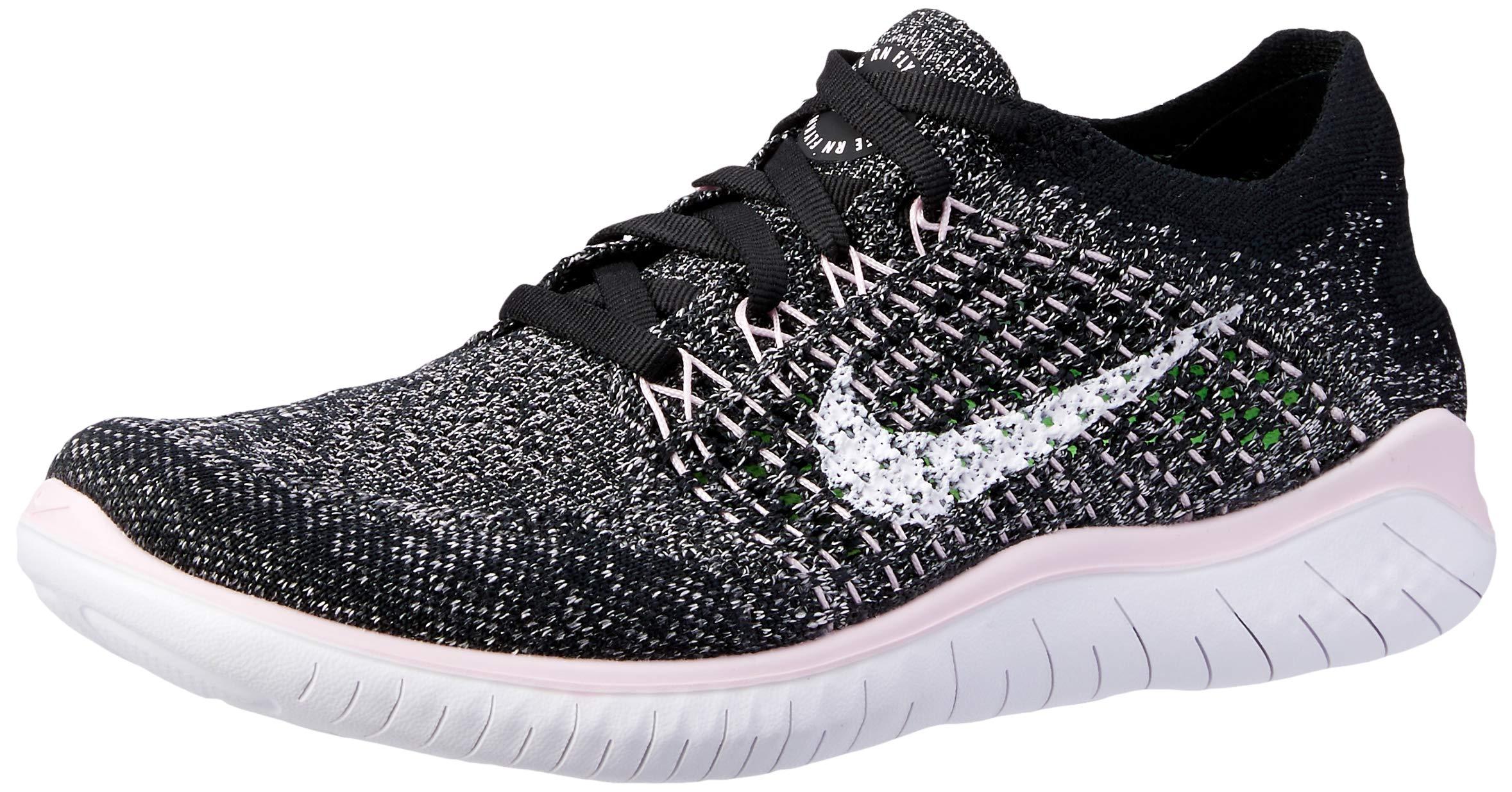 buy online 1625d b4d17 Nike Free RN Flyknit 2018 Women's Running Shoe Black/White-Pink Foam 9.5