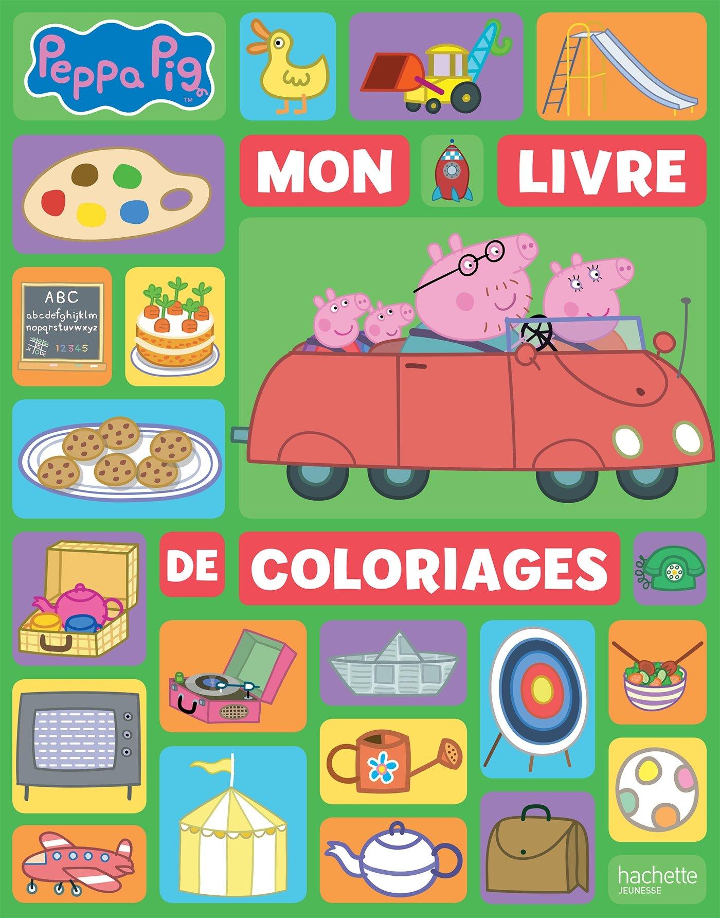 Peppa Pig Mon Livre De Coloriages French Edition Hachette Jeunesse 9782014648386 Amazon Com Books