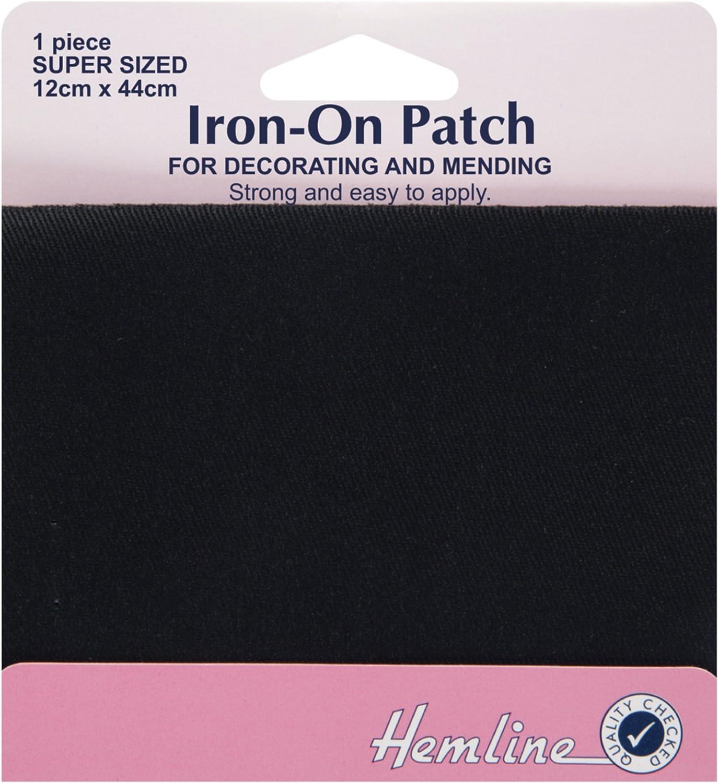 Hemline 2 x 15cm x 10cm Sew in Vinyl Mending Patches Repair Patch