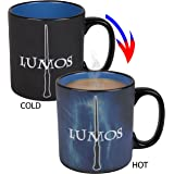 Harry Potter Lumos / Nox Heat Reveal Ceramic Coffee Mug - Magic Spells Activate with Heat! - 20 oz.