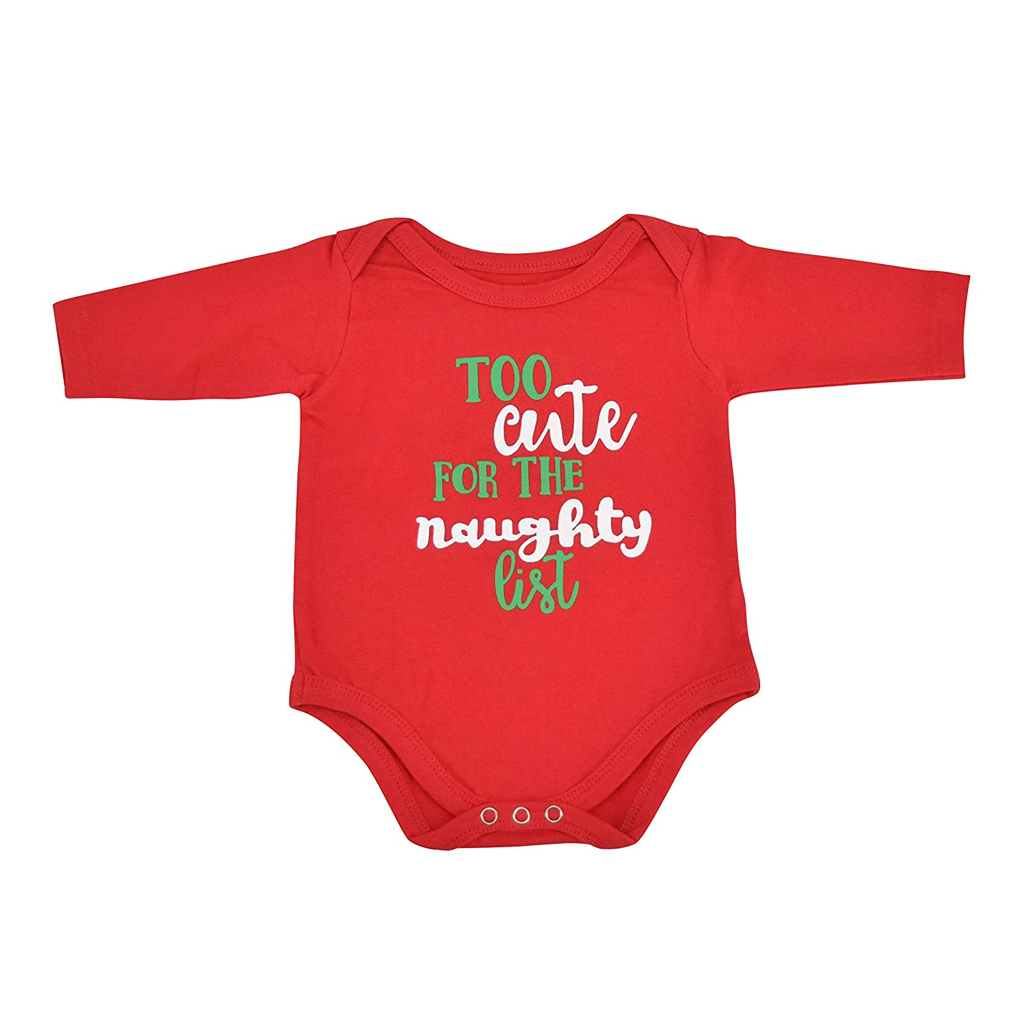 540471c45 Amazon.com: Unique Baby Unisex 1st Christmas Outfit Naughty List Onesie  Layette: Clothing