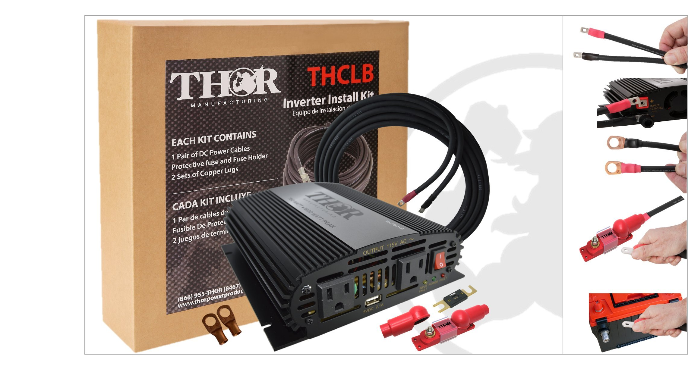 THOR Manufacturing TH750-S KIT2 Professional Grade Inverter Install Kits