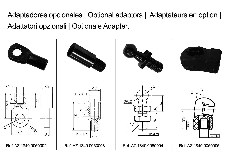 - Universal Ref Ressort /à gaz pour v/éhicules KSH 450 mm 450 N AZ.1840.0050026