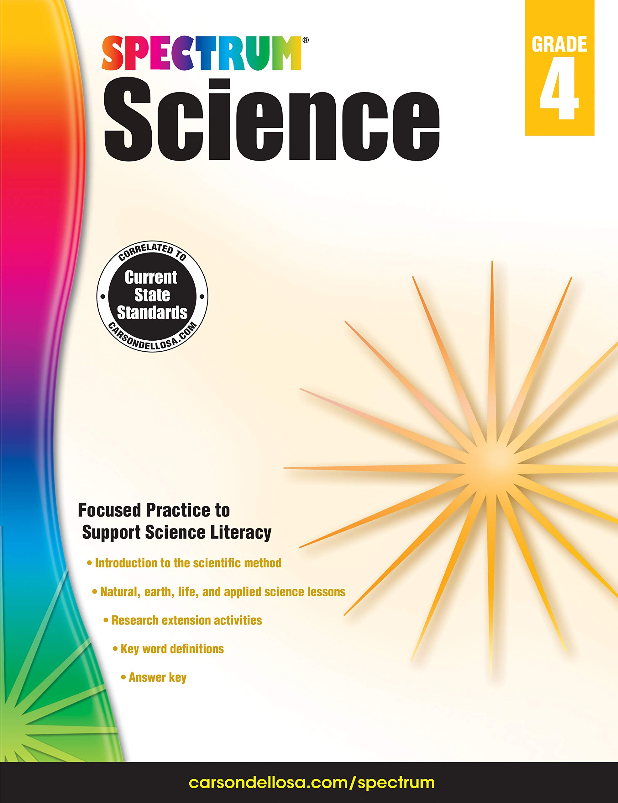 Carson-Dellosa Spectrum Science Workbook, Grade 4