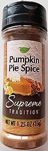 Supreme Traditions Pumpkin Pie Spice, (1) 1.25oz jar, 58 servings