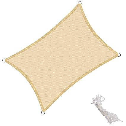 Sonnensegel Sonnenschutz UV-Schutz Polyester HDPE Wasserabweisend Terrasse Sand