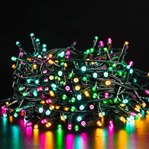Quntis 200 LED Christmas String Lights Outdoor Indoor, 66FT Fairy Lights Christmas Tree Lights with 8 Lighting Modes, Mini String Lights Plug in for Garden Patio Wedding Party Decoration (Multicolor)