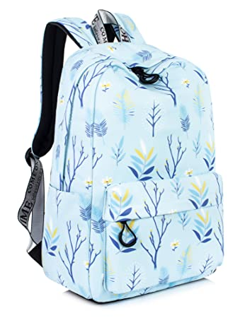 b9e4da17f530 Amazon.com  Water Resistant Leaves Laptop Backpack College Bags Women  Daypack Travel Bag Fits up to 15.6-Inch Laptop by TOPERIN  9099    LeaperDirect