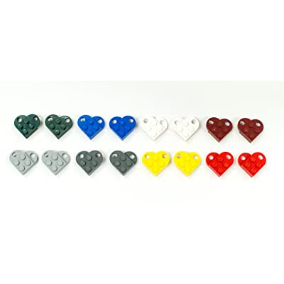 Parts/Elements - Accessories Lego Hearts - Lot of 16 Complete Hearts in 8: Toys & Games