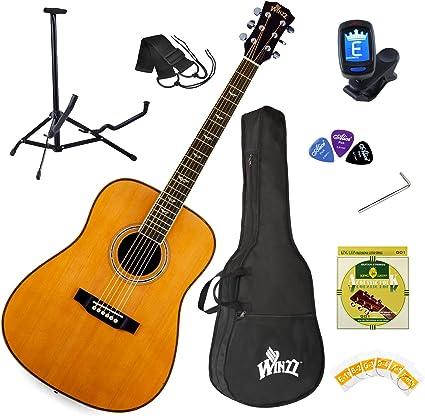Winzz Guitarra Acústica Kit para Principiantes Dreadnought Tamaño ...