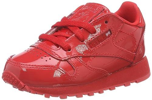 Reebok Classic Leather Patent, Zapatillas de Estar por Casa Bebé Unisex, Rojo (Primal Red 000), 19.5 EU