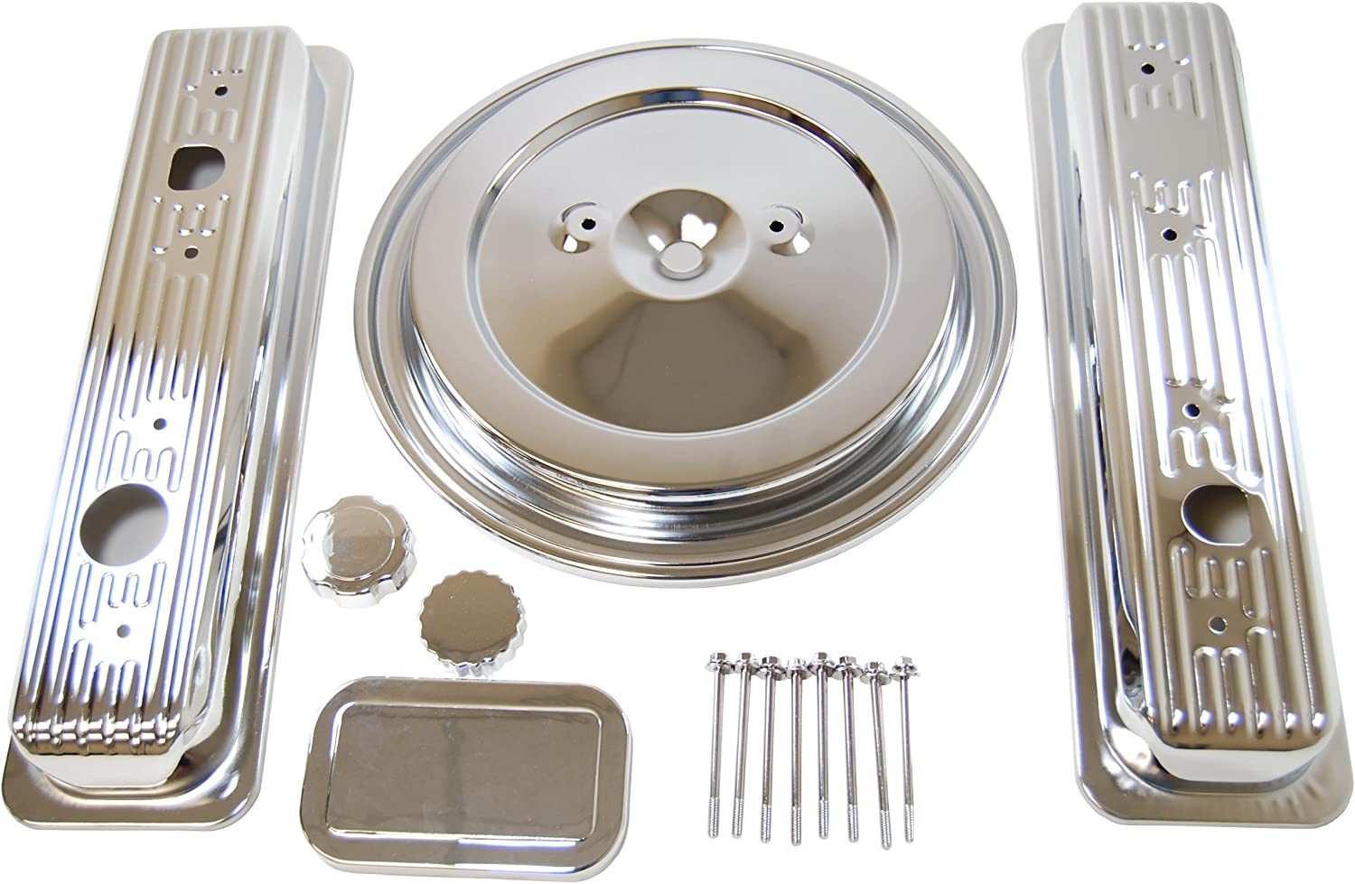 1993-94 CHEVY//GMC 5.0L /& 5.7L TRUCK CHROME STEEL ENGINE DRESS UP KIT SMOOTH