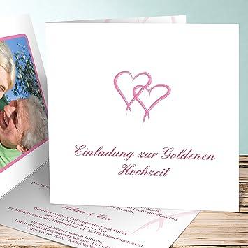 Einladungskarte Goldene Hochzeit Selbst Gestalten Mein Herz