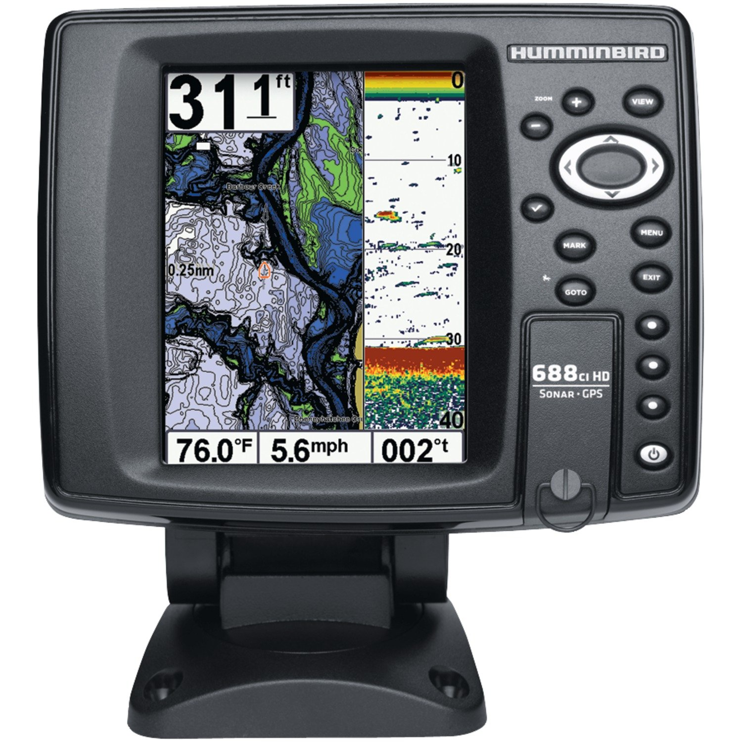 Amazon.com: Humminbird 688 ci HD interna GPS/Sonar Combo ...