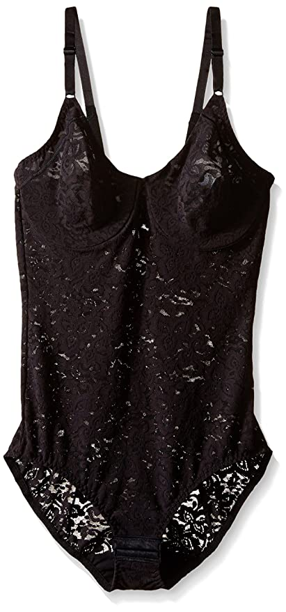 eb95fb115 Bali Women s Shapewear Lace  N Smooth Body Briefer at Amazon Women s  Clothing store  Shapewear Bodysuits