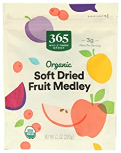 365 by Whole Food Market, Organic Dried Fruit, Soft Dried Fruit Medley, 7.1 Ounce