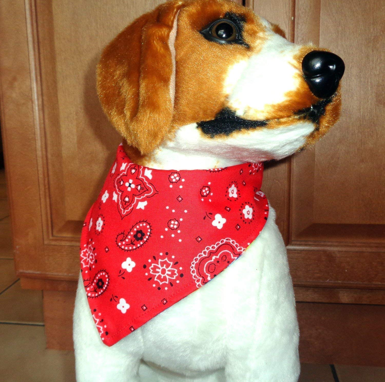 Tie Dye Classic Red Everyday Cat Dog Bandana Snap Closure Adjustable Reversible Patriotic