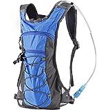 Trinkrucksack Hydrationspack mit 2L Trinkblase für Joggen, Wandern, Radfahren, Camping und Bergsteigen