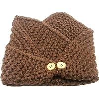 DOEUS Otoño Invierno Bufanda para Bebé Niños Niñas, Collar Bebé Algodón O Anillo Cuello Bufandas para Navidad acción de…