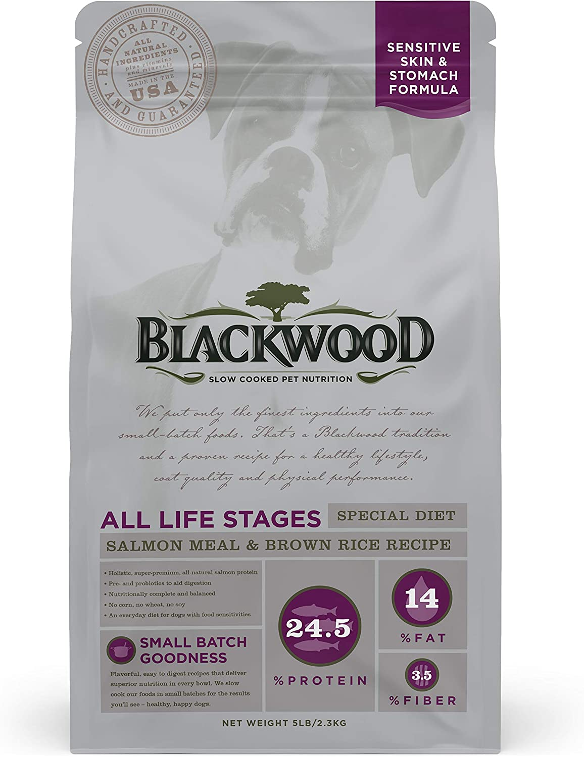 Blackwood Pet Sensitive Skin and Stomach Dog Food Made in USA [Special Diet Dry Dog Food to Solve Food Sensitivities Naturally], Ideal For All Life Stages