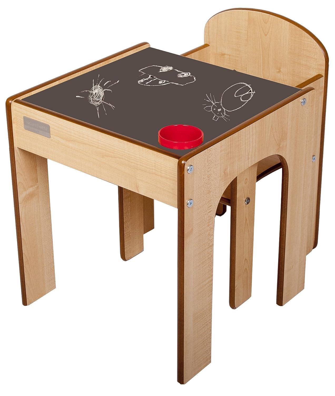 Little Little Little Helper in scheint Schreibtisch und Stuhl aus Holz für Kinder mit Stifteköcher Pinsel FunStation von Little Helper schwarz 9db120