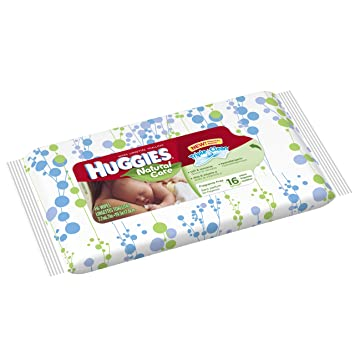 HUGGIES Natural Care Baby Wipes, 16 sheets