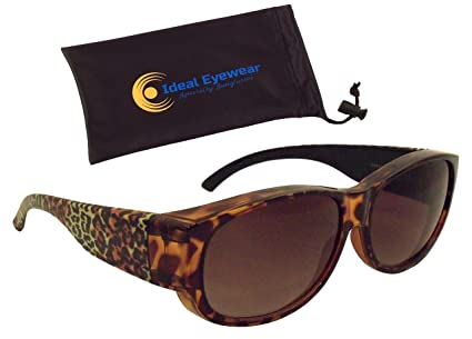 35a26a39b2 Animal Print Fit Over Sunglasses by Ideal Eyewear - Wear Over Prescription  Glasses - Over Eyeglasses