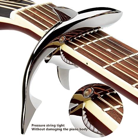 dorimi tiburón diseño de lujo de aleación de zinc Capo para Guitarra Eléctrica Acústica Ukelele Banjo