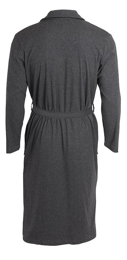Yugo Sport Men s Robe - Kimono Spa Knit Bathrobe Ribbed - Long Sleeve Shawl  Collar at Amazon Men s Clothing store  29d056c40