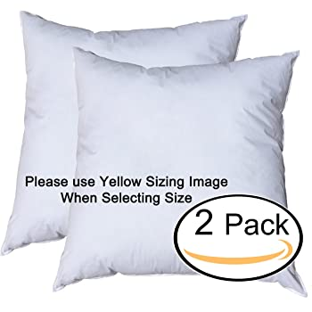 Amazon Pillowflex 40x40 Inch Premium Polyester Filled Pillow Cool 30 Inch Euro Pillow Inserts
