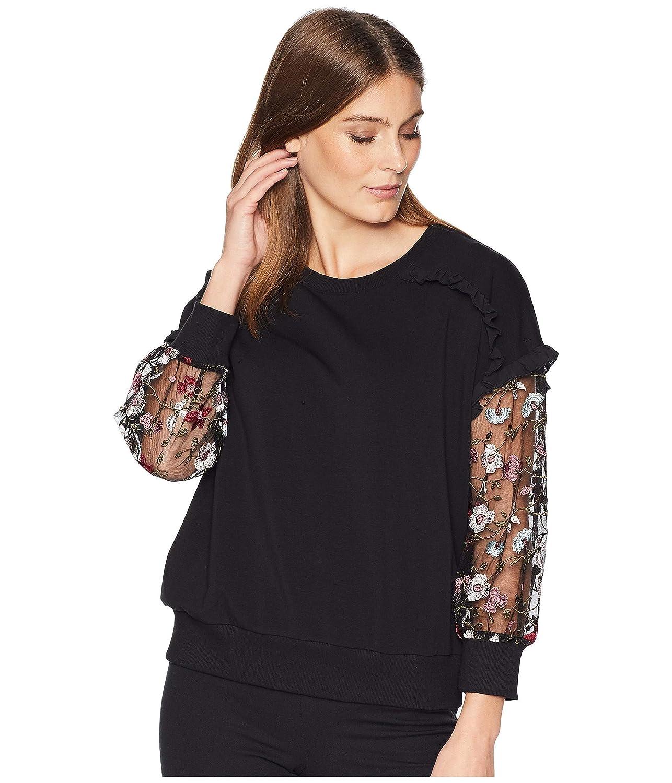 [セセ] レディース パーカースウェットシャツ Mix Media Ruffled Sweatshirt [並行輸入品] B07HP1FX1W   XL