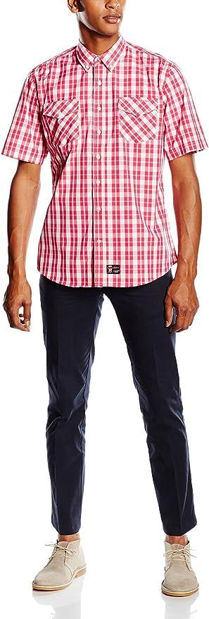 Spagnolo Camisa Hombre Rojo M (03): Amazon.es: Ropa y accesorios