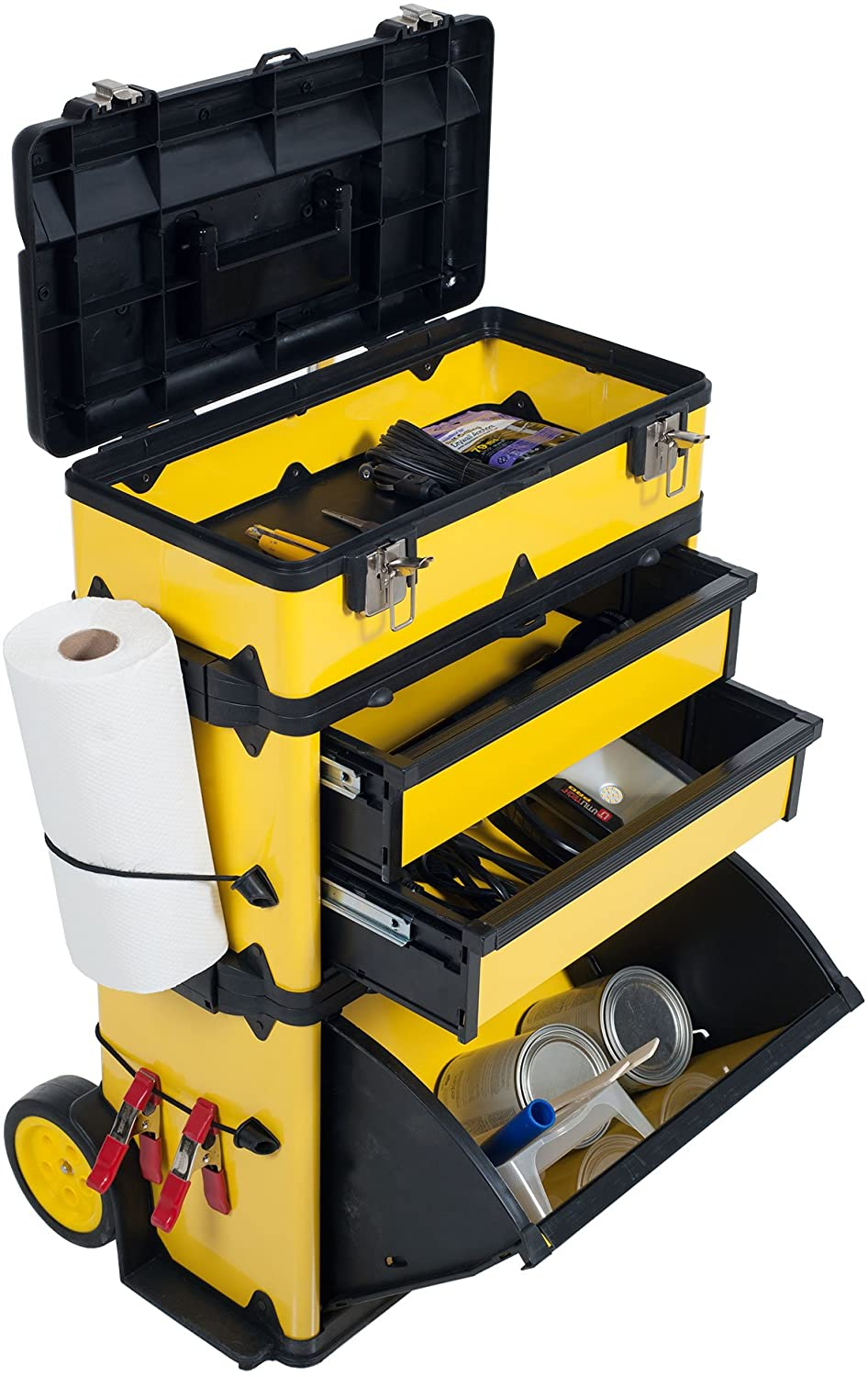 Stalwart Stackable Mobile Tool Box with Wheels W Tools & Workshop ...
